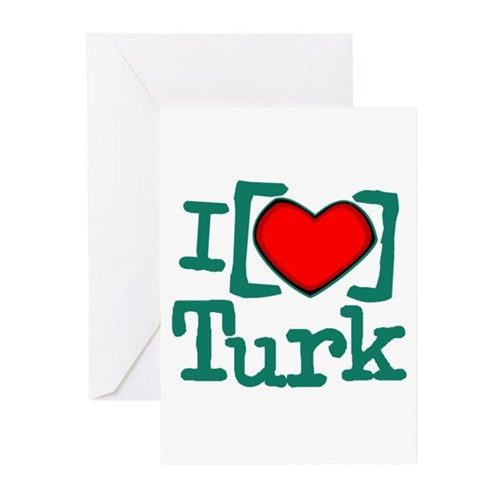 I Heart Turk Greeting Cards (Pk of 10)