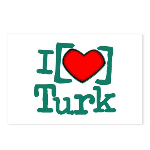 I Heart Turk Postcards (Package of 8)