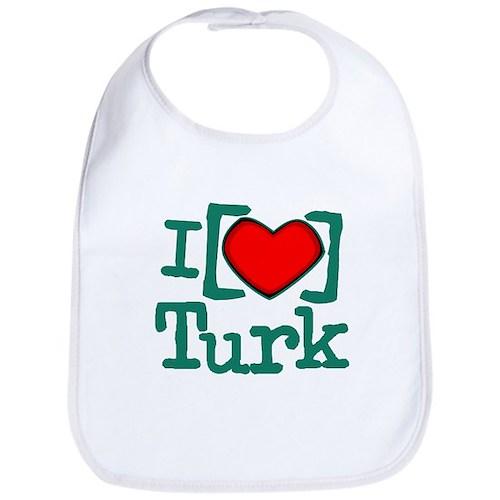 I Heart Turk Bib