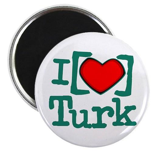"""I Heart Turk 2.25"""" Magnet (10 pack)"""