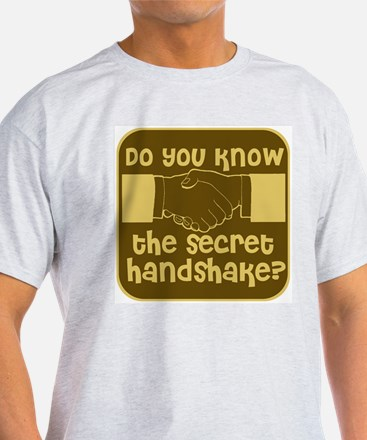 Secret Handshake Ash Grey T-Shirt