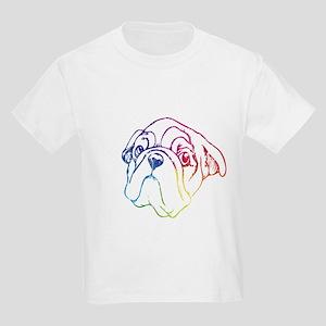 Rainbow Bulldog Kids Light T-Shirt