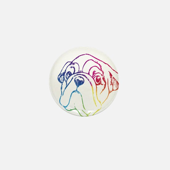 Rainbow Bulldog Mini Button