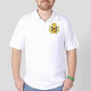 Gold Barbados Golf Shirt