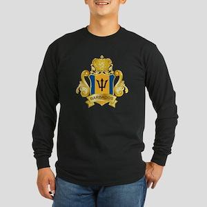 Gold Barbados Long Sleeve Dark T-Shirt