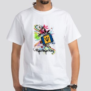 Flower Barbados White T-Shirt