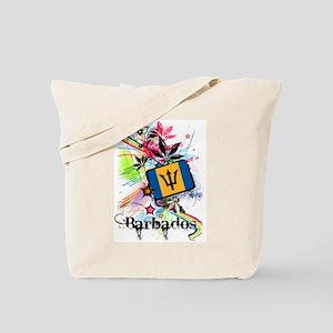 Flower Barbados Tote Bag