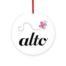 Cute Alto Music Ornament (Round)