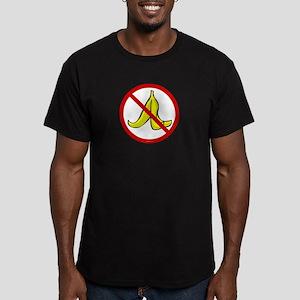 No Banana Peels - Men's Fitted T-Shirt (dark)