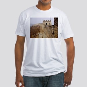 Great Wall Panorama Fitted T-Shirt