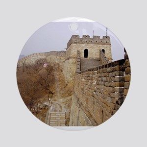 Great Wall Panorama Ornament (Round)