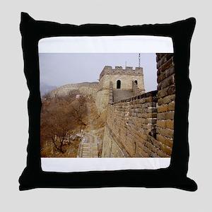 Great Wall Panorama Throw Pillow