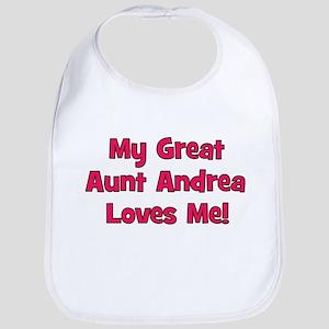 My Great Aunt Andrea Loves Me! Bib