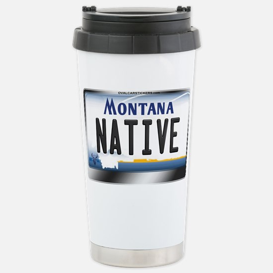 Montana License Plate - [NATIVE] Stainless Steel T