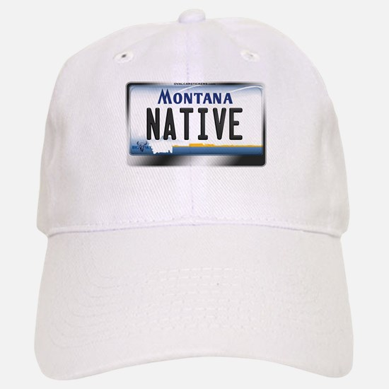 Montana License Plate - [NATIVE] Baseball Baseball Cap