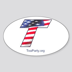 Tea Party Sticker (Oval)