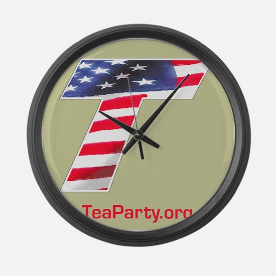 Tea Party Large Wall Clock