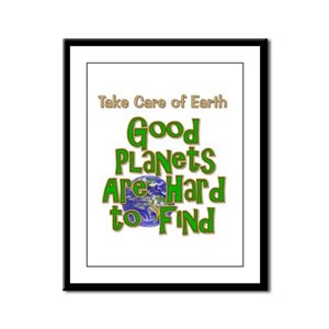 Good Planets Hard To Find Framed Panel Print