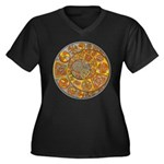 Celtic Crescents Women's Plus Size V-Neck Dark T-S