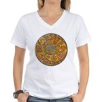 Celtic Crescents Women's V-Neck T-Shirt