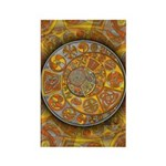 Celtic Crescents Rectangle Magnet