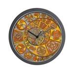 Celtic Crescents Wall Clock