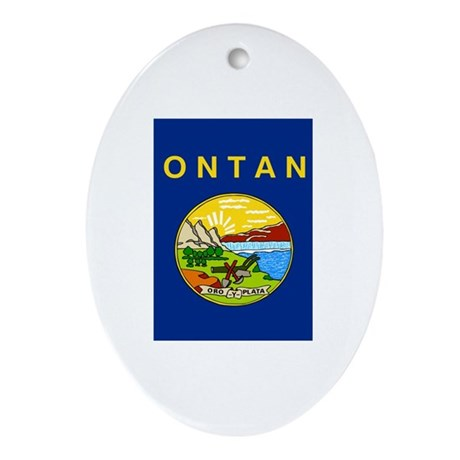 Montanan Flag Ornament (Oval)