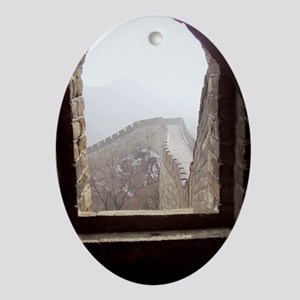 Tower Window Oval Ornament