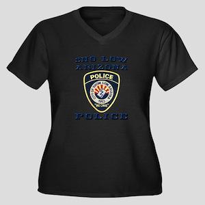Show Low Police Women's Plus Size V-Neck Dark T-Sh