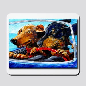 Two Dogs to Go Mousepad