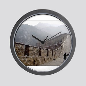 Walk the Wall Wall Clock