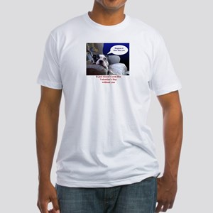 VALENTINES DAY (MISS YOU LOOK) Fitted T-Shirt
