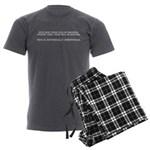 Without guns Men's Charcoal Pajamas
