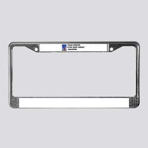 Every man judge License Plate Frame