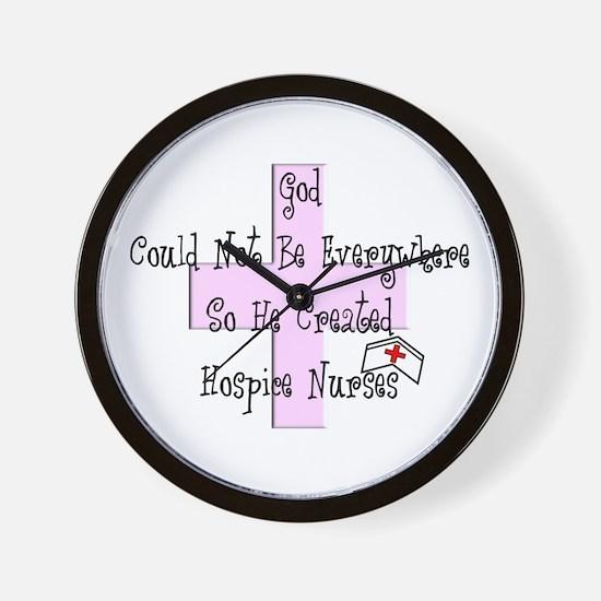 More Hospice Nursing Wall Clock