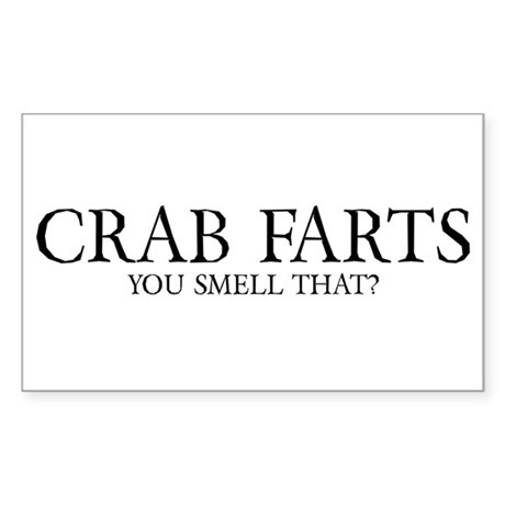 Crab Farts Sticker (Rectangle)