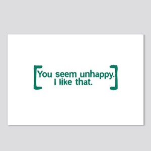 You Seem Unhappy Postcards (Package of 8)
