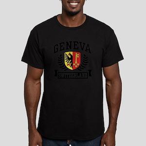 Geneva Switzerland Men's Fitted T-Shirt (dark)