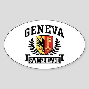 Geneva Switzerland Sticker (Oval)