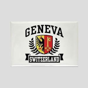 Geneva Switzerland Rectangle Magnet