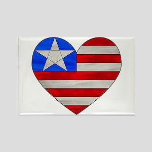 Heart Flag Rectangle Magnet