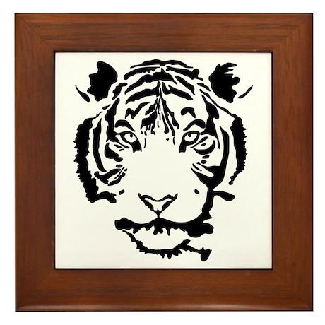 Stalking Tiger Framed Tile