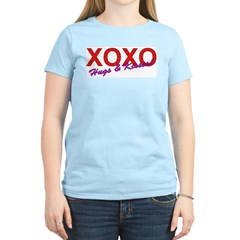 XOXO Hugs & Kisses Women's Pink T-Shirt