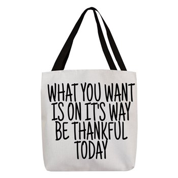 Life Quote Polyester Tote Bag
