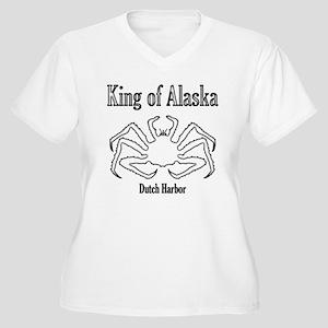 King of Alaska-black outline- Women's Plus Size V-