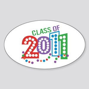 Class 11 Celebration Sticker (Oval)