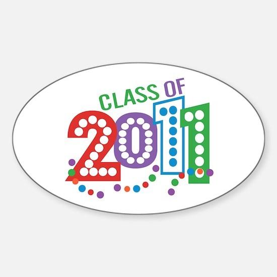 Class 11 Celebration Sticker (Oval)