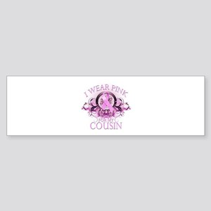I Wear Pink for my Cousin (floral) Sticker (Bumper