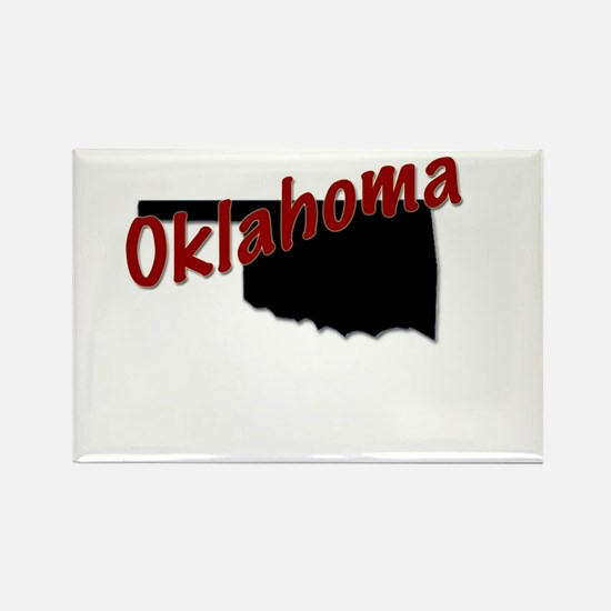 Cute State oklahoma Rectangle Magnet