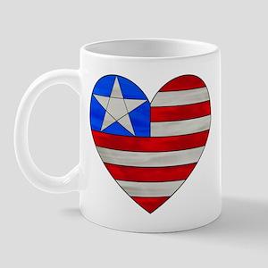 Heart Flag Mug - Left Handed